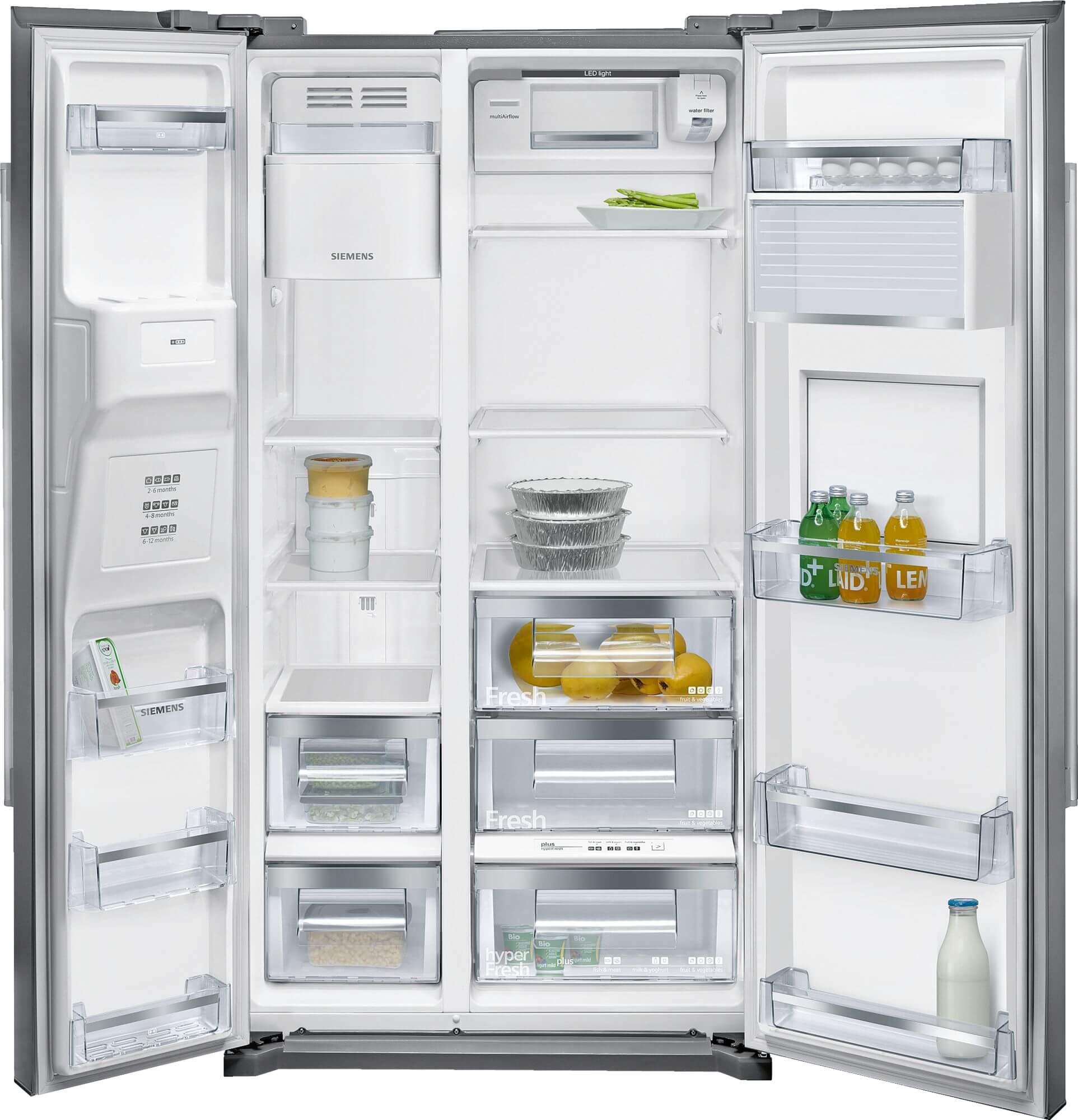 Siemens Side By Side Fridge Freezer Ka90gai20 608lt A Inox