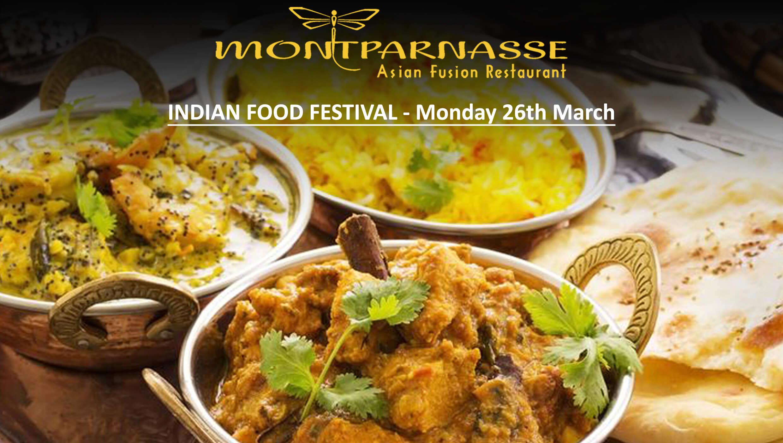 INDIAN FOOD FESTIVAL at MONTPARNASSE